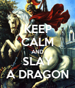 KEEP CALM AND SLAY A DRAGON - Personalised Poster large