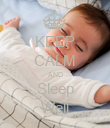 KEEP CALM AND Sleep Well - Personalised Poster large