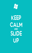 KEEP CALM AND SLIDE UP - Personalised Poster large