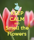 KEEP CALM AND Smell the Flowers - Personalised Poster large