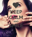 KEEP CALM AND SMILE : - Personalised Poster large