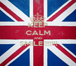 KEEP CALM AND SMILE!!!!!!!  - Personalised Poster large