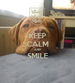KEEP CALM AND SMILE  - Personalised Poster large
