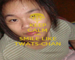 KEEP CALM AND SMILE LIKE TWATS-CHAN - Personalised Poster large