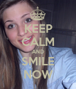 KEEP CALM AND SMILE NOW - Personalised Poster large