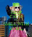 KEEP CALM AND SMILE WITH AVRIL - Personalised Poster large