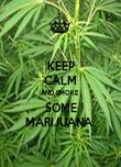 KEEP CALM AND SMOKE  SOME MARIJUANA  - Personalised Poster large