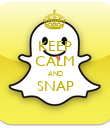 KEEP CALM AND SNAP  - Personalised Poster large