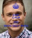 KEEP CALM AND SNOG OLLY MURS  - Personalised Poster large