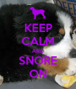 KEEP CALM AND SNORE ON - Personalised Poster large