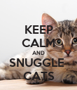 KEEP CALM AND SNUGGLE  CATS - Personalised Poster small