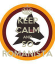 KEEP CALM AND SO ROMANISTA - Personalised Poster large
