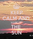 KEEP CALM AND  SOAK UP  THE  SUN - Personalised Poster large
