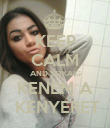 KEEP CALM AND SOKAIG KENEM A  KENYERET - Personalised Poster large