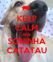 KEEP CALM AND SONINHA CATATAU - Personalised Large Wall Decal