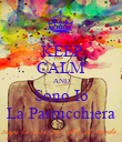 KEEP CALM AND Sono Io La Parrucchiera - Personalised Poster large