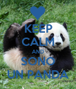 KEEP CALM AND SONO UN PANDA - Personalised Poster large