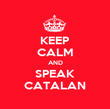 KEEP CALM AND SPEAK CATALAN - Personalised Poster large