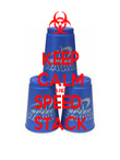 KEEP CALM AND SPEED  STACK - Personalised Poster large