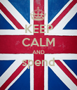 KEEP CALM AND spend  - Personalised Poster large