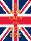 KEEP CALM AND SPETA BENE - Personalised Poster large