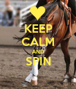 KEEP CALM AND SPIN  - Personalised Poster large