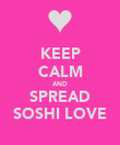KEEP CALM AND SPREAD SOSHI LOVE - Personalised Poster large