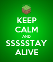 KEEP CALM AND SSSSSTAY ALIVE - Personalised Poster large