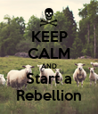 KEEP CALM AND Start a Rebellion - Personalised Poster large
