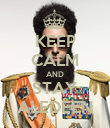 KEEP CALM AND STAY ALEDEEN - Personalised Poster large