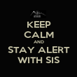 KEEP CALM AND STAY ALERT WITH SIS - Personalised Poster large