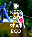 KEEP CALM AND STAY ECO - Personalised Poster large