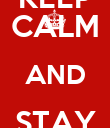KEEP CALM AND STAY ENZO - Personalised Poster large