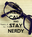 KEEP CALM AND STAY NERDY - Personalised Poster large