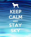 KEEP CALM AND STAY SKY - Personalised Poster large
