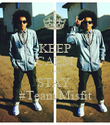 KEEP CALM AND STAY  #Team Misfit - Personalised Poster large
