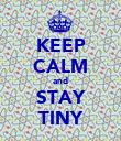 KEEP CALM and STAY TINY - Personalised Poster large