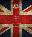 KEEP CALM AND STAY WITH @vionashaviana - Personalised Poster large