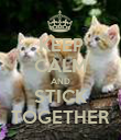 KEEP CALM AND STICK TOGETHER - Personalised Poster large