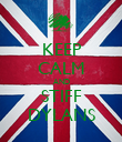 KEEP CALM AND STIFF DYLANS - Personalised Poster large