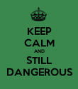 KEEP CALM AND STILL DANGEROUS - Personalised Poster large