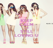 KEEP CALM AND STILL LOVING U - Personalised Poster large