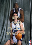 KEEP CALM AND STOCKTON TO MALONE - Personalised Poster large