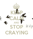 KEEP CALM AND STOP CRAYING - Personalised Poster large