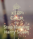 KEEP CALM AND Stop Hateing Harry Styles - Personalised Poster large
