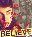 KEEP CALM AND STOP HATING JUSTIN BIEBER - Personalised Poster large