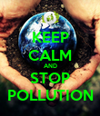 KEEP CALM AND STOP POLLUTION - Personalised Poster large