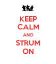 KEEP CALM AND STRUM ON - Personalised Poster large