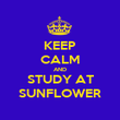 KEEP CALM AND STUDY AT SUNFLOWER - Personalised Poster large
