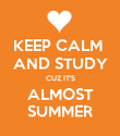 KEEP CALM  AND STUDY CUZ IT'S ALMOST SUMMER - Personalised Poster large